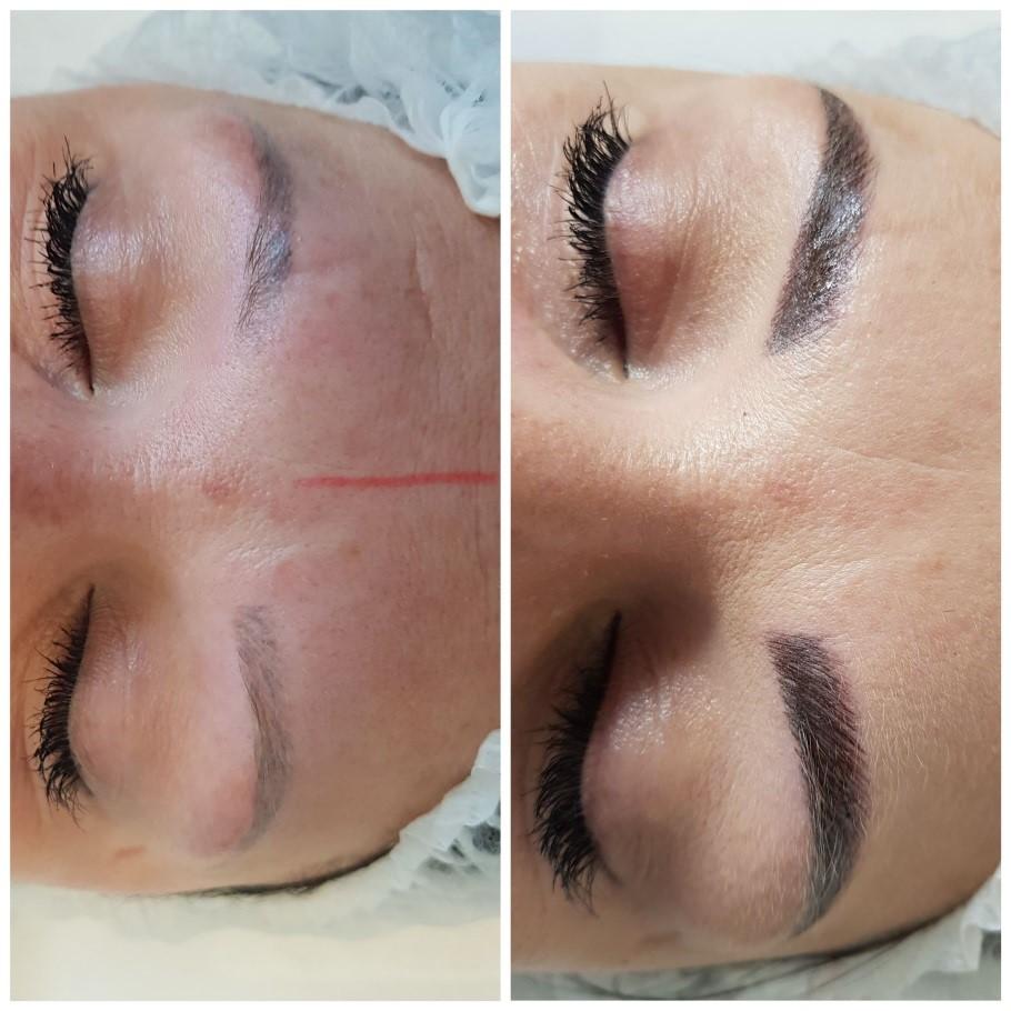 makijaż permanentny oczu i brwi przed i po